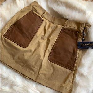 Women's POLO GOLF FALL BEIGE Skirt NEW $165
